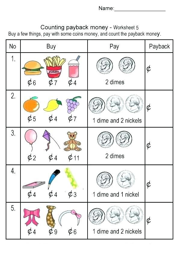 for girls 2nd Grade Money Worksheets - Best Coloring Pages For Kids printable