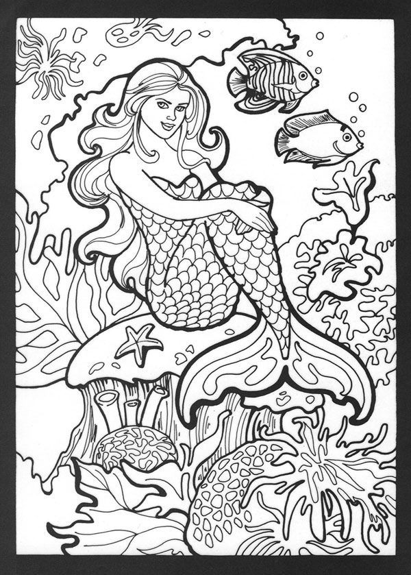 easy Mermaid Coloring Pages for Adults - Best Coloring Pages For ... for sunday school