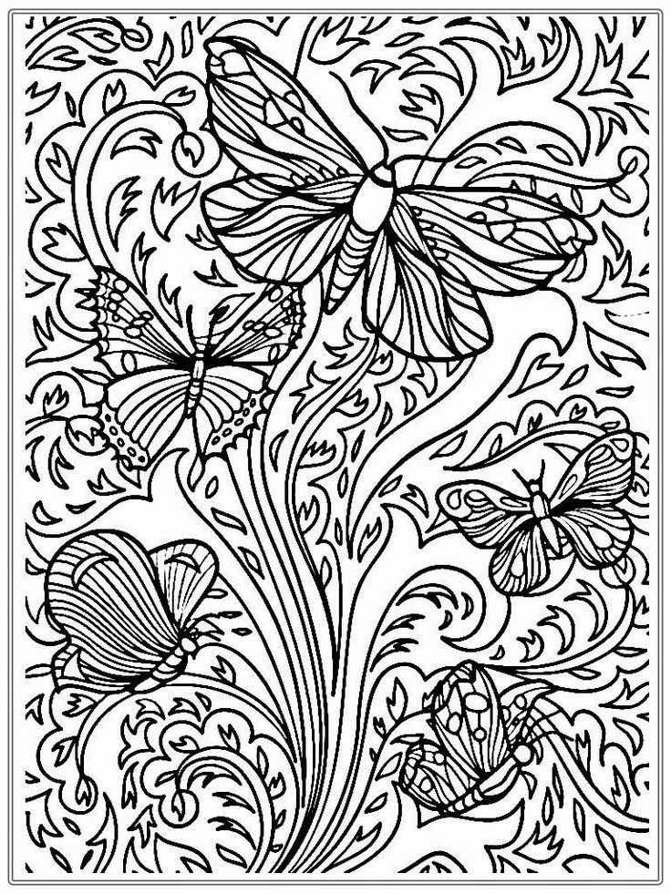 for sunday school Butterfly Coloring Pages for Adults - Best Coloring Pages Fo... pdf