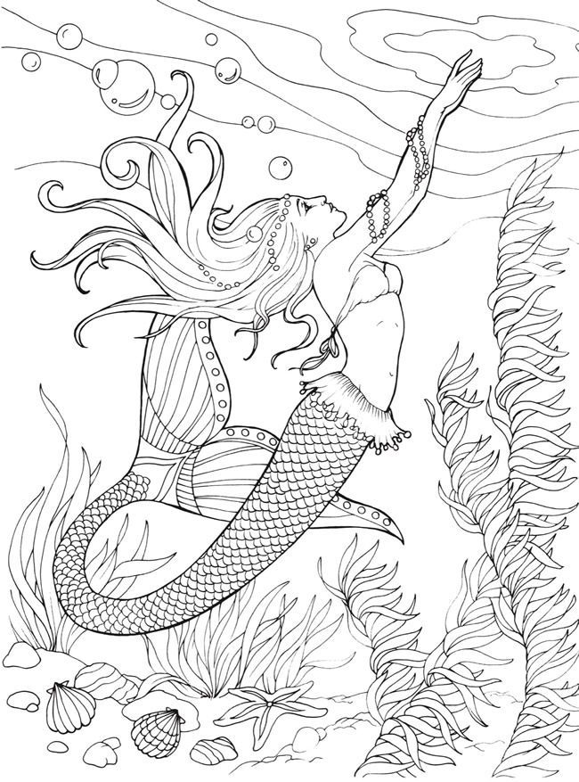 free printable Mermaid Coloring Pages for Adults - Best Coloring Pages For ... for teens