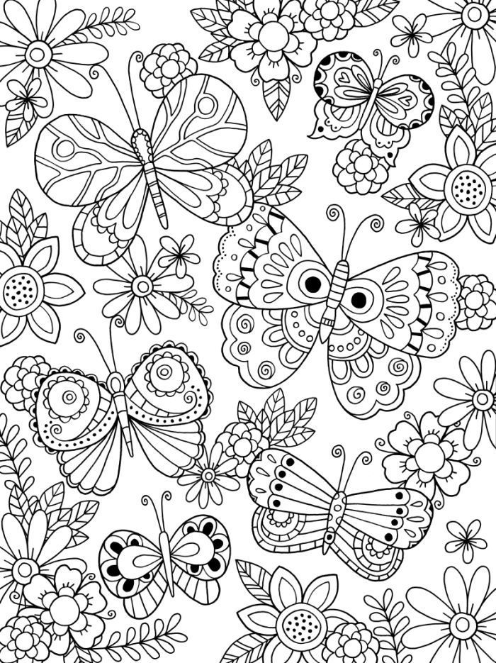 easy Butterflies are beautiful and elegant, a perfect subject for... printable