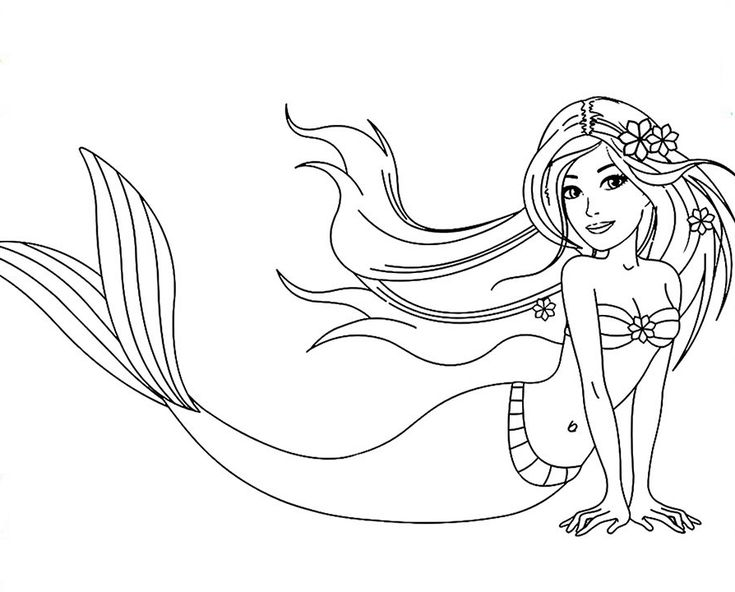 for kindergarten Barbie Mermaid Coloring Pages - Best Coloring Pages For Kids toddler