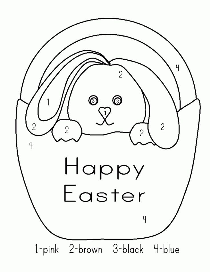 simple Easter Preschool Worksheets - Best Coloring Pages For Kids for sunday school