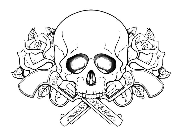 already colored Skull Coloring Pages for Adults - Best Coloring Pages For Ki... for adults
