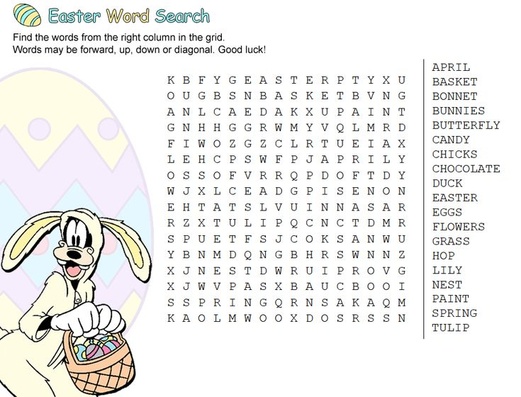 for sunday school Easter Word Search Puzzles - Best Coloring Pages For Kids for teens
