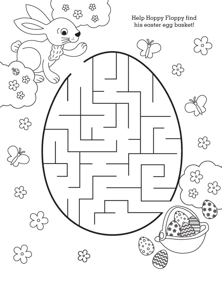 toddler Easter Mazes - Best Coloring Pages For Kids for toddlers
