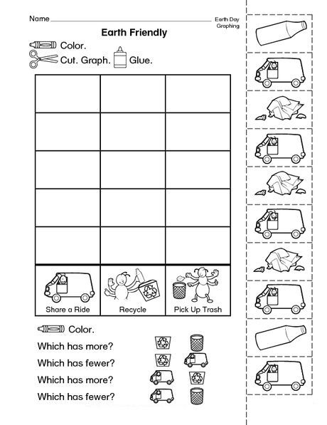 for toddlers Earth Day Worksheets - Best Coloring Pages For Kids already colored