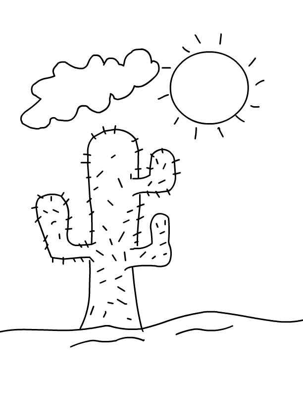 online Desert Coloring Pages - Best Coloring Pages For Kids for toddlers
