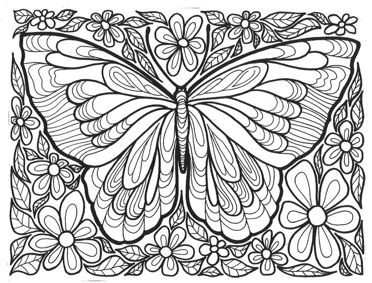for teens Butterfly Coloring Pages for Adults - Best Coloring Pages Fo... simple