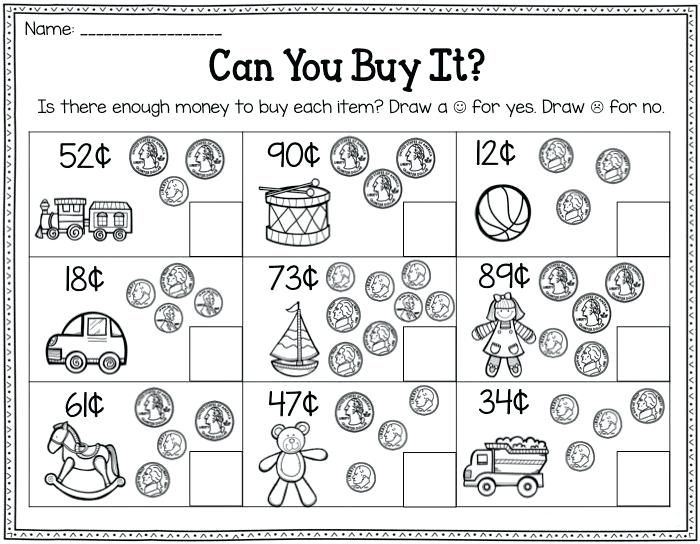 printable 2nd Grade Money Worksheets - Best Coloring Pages For Kids for girls