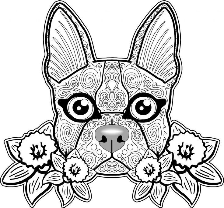 for adults Dog Coloring Pages for Adults - Best Coloring Pages For Kids for adults