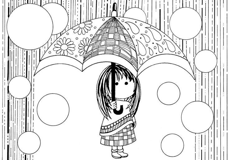 simple Rain Coloring Pages - Best Coloring Pages For Kids to print out