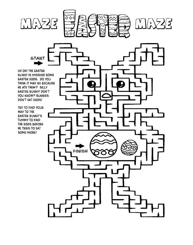 to print out Easter Mazes - Best Coloring Pages For Kids for adults