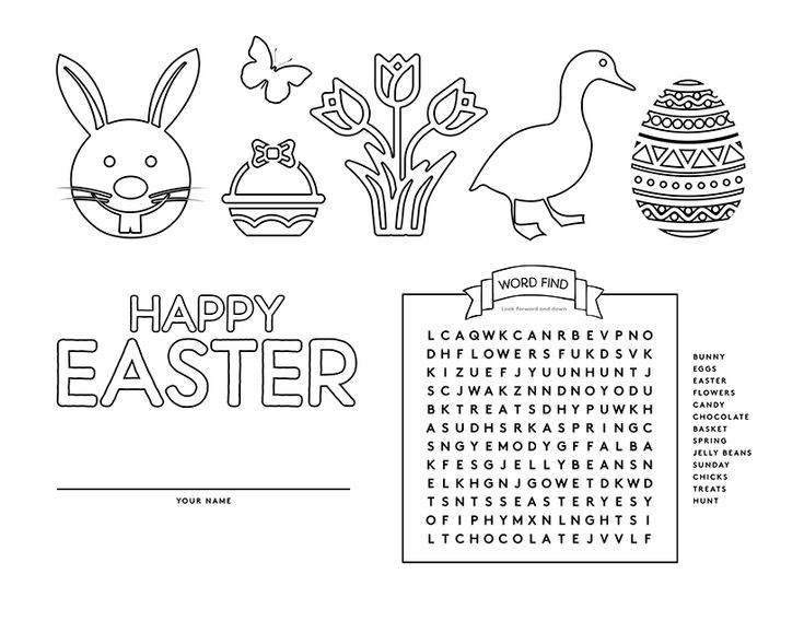 for kindergarten Easter Word Search Puzzles - Best Coloring Pages For Kids pdf