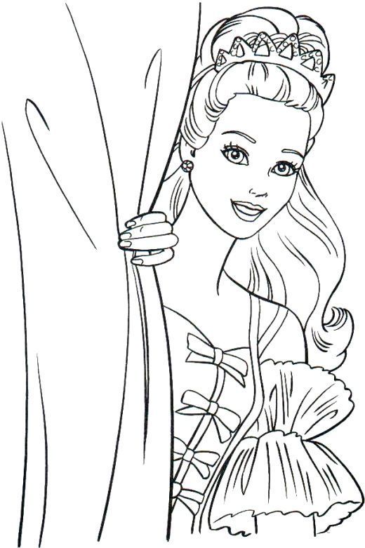 already colored Barbie Princess Coloring Pages - Best Coloring Pages For Kid... simple