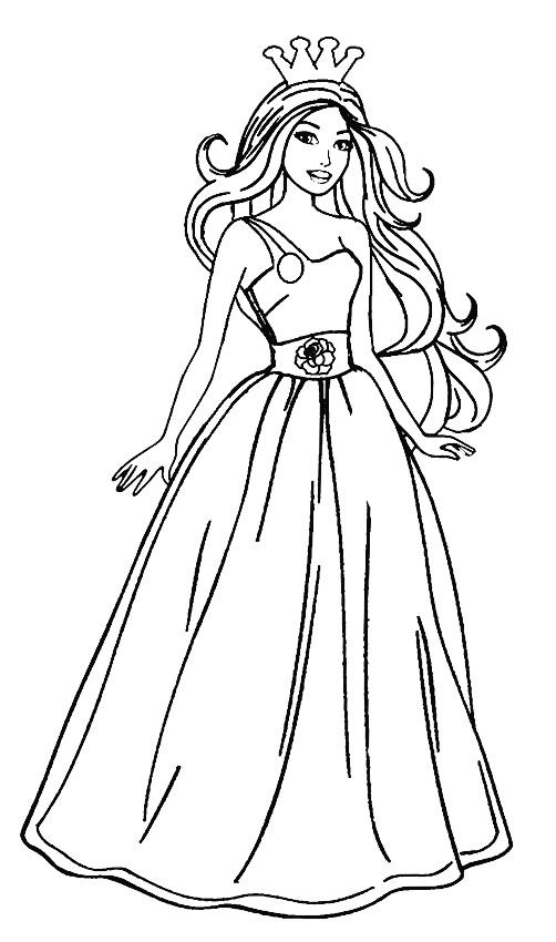 for sunday school Barbie Princess Coloring Pages - Best Coloring Pages For Kid... for adults