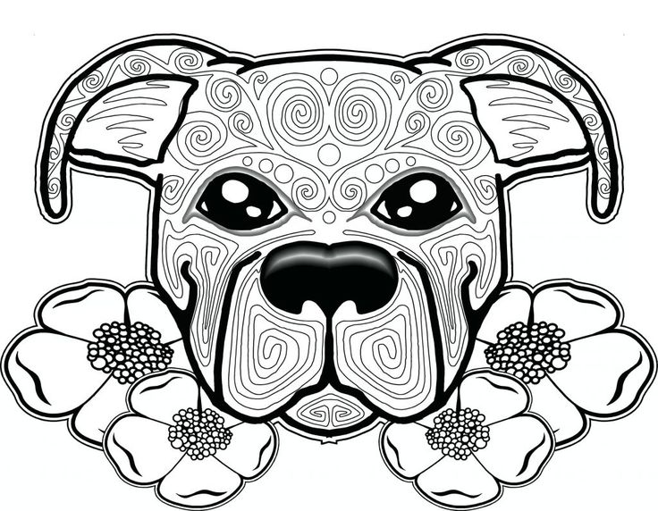 for teens Dog Coloring Pages for Adults - Best Coloring Pages For Kids simple