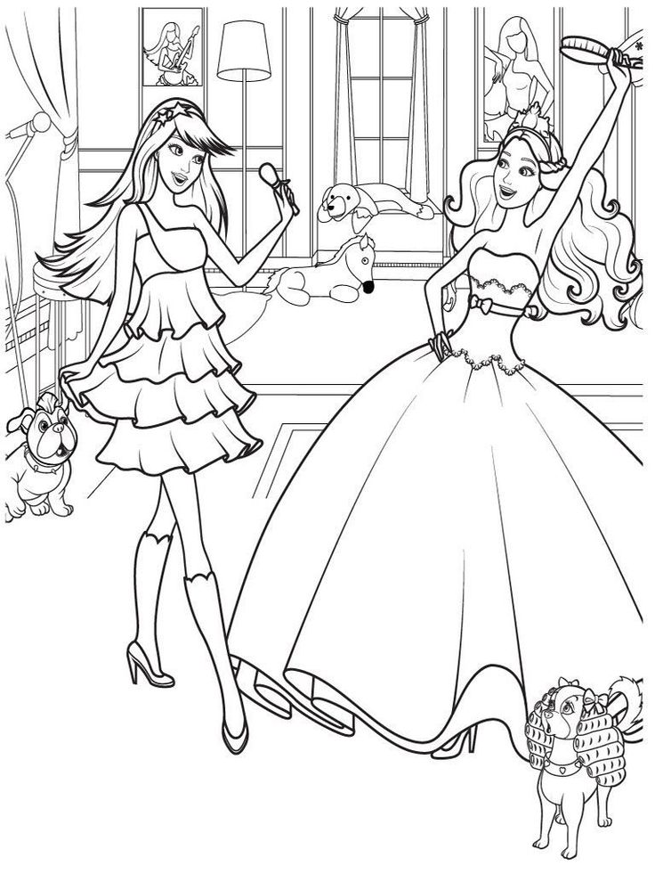 easy Barbie Princess Coloring Pages - Best Coloring Pages For Kid... free