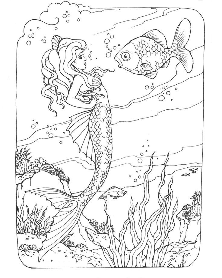 free printable Mermaid Coloring Pages for Adults - Best Coloring Pages For ... for sunday school