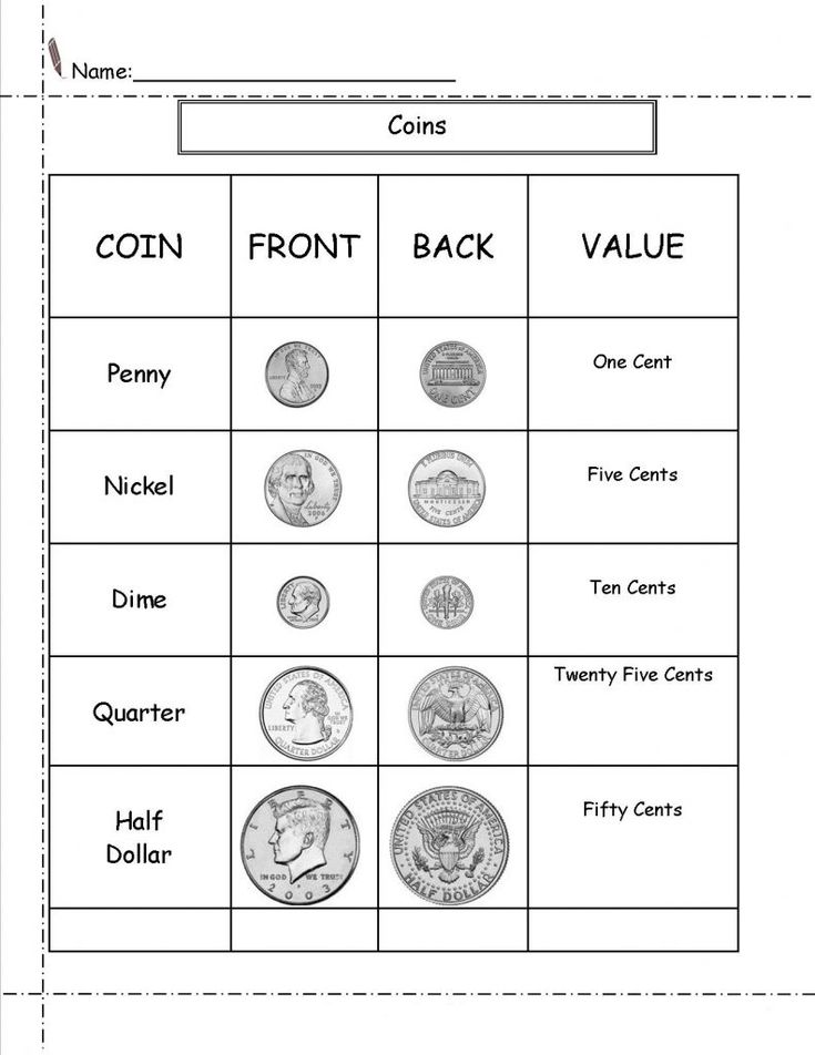 preschool 2nd Grade Money Worksheets - Best Coloring Pages For Kids free