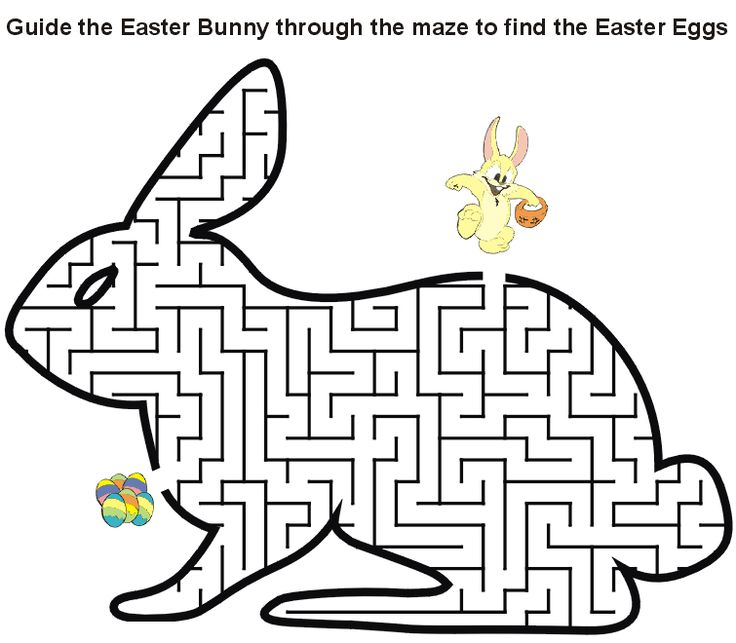 easy Easter Mazes - Best Coloring Pages For Kids for adults
