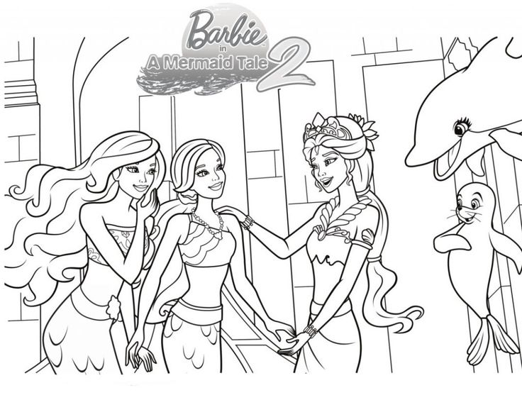 toddler Barbie Mermaid Coloring Pages - Best Coloring Pages For Kids printable