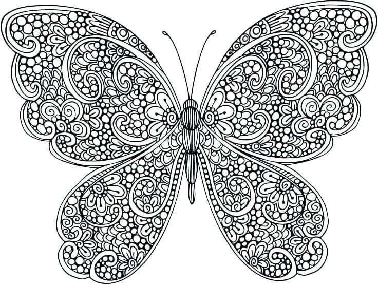 for teens Butterfly Coloring Pages for Adults - Best Coloring Pages Fo... for girls