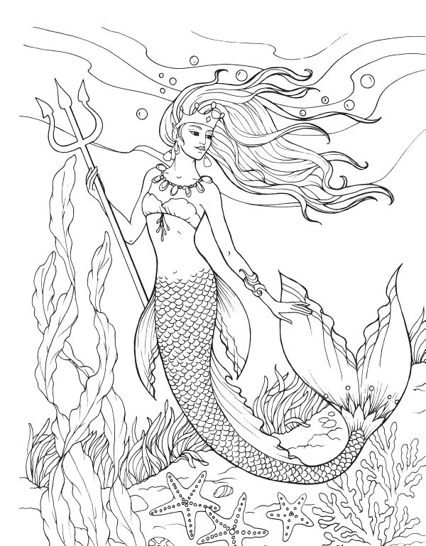 for kids Mermaid Coloring Pages for Adults – Best Coloring Pages For … for kids
