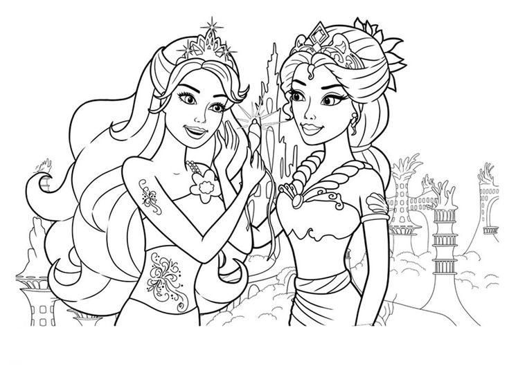 online Barbie Mermaid Coloring Pages - Best Coloring Pages For Kids free printable