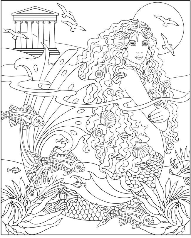 for kindergarten Mermaid Coloring Pages for Adults - Best Coloring Pages For ... for sunday school