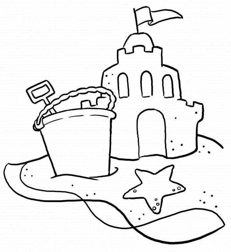 free Beach Coloring Pages - Beach Scenes & Activities to print out