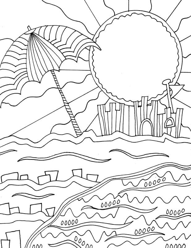 for sunday school Beach Coloring Pages - Beach Scenes & Activities for boys