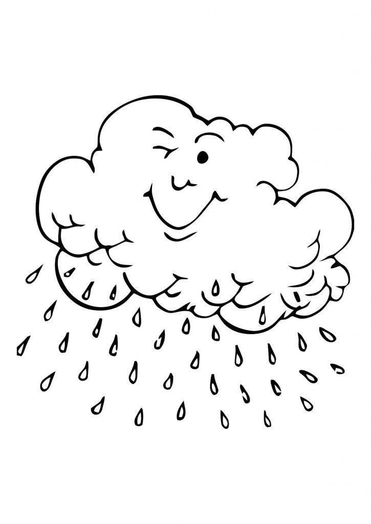 for toddlers Rain Coloring Pages - Best Coloring Pages For Kids already colored
