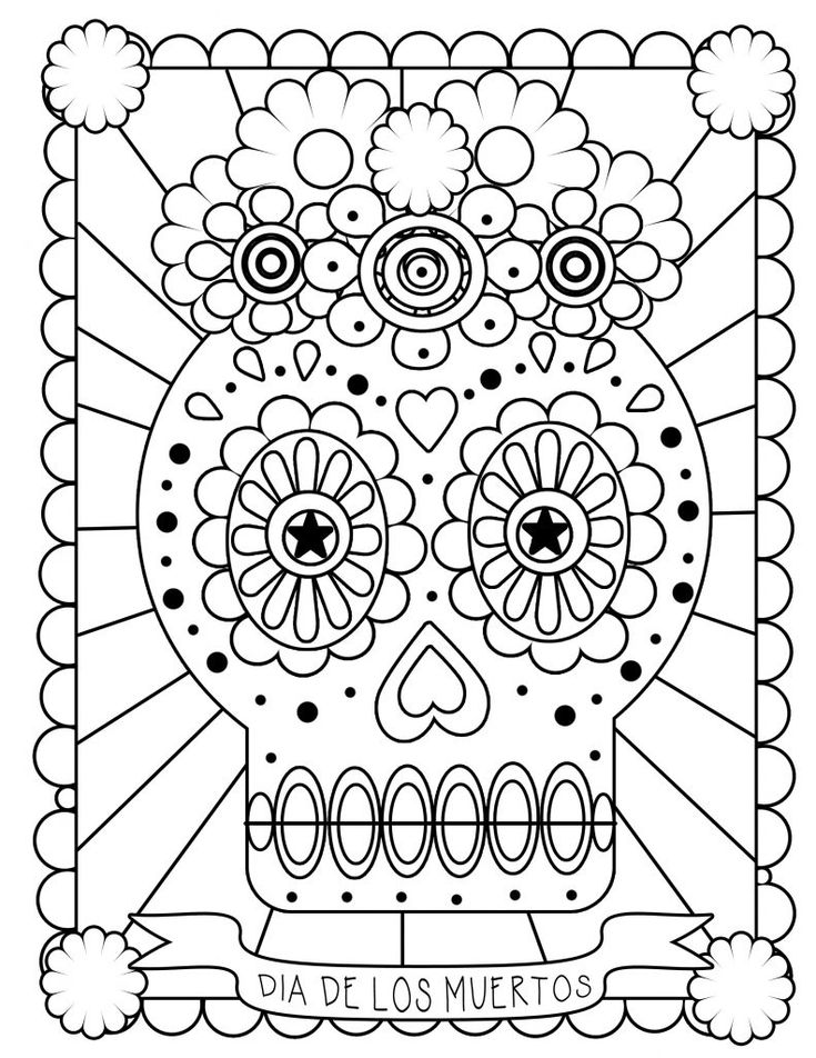 free Skull Coloring Pages for Adults - Best Coloring Pages For Ki... free printable