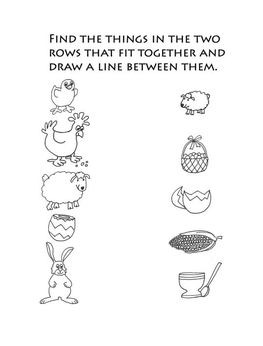 pdf Easter Preschool Worksheets - Best Coloring Pages For Kids for toddlers
