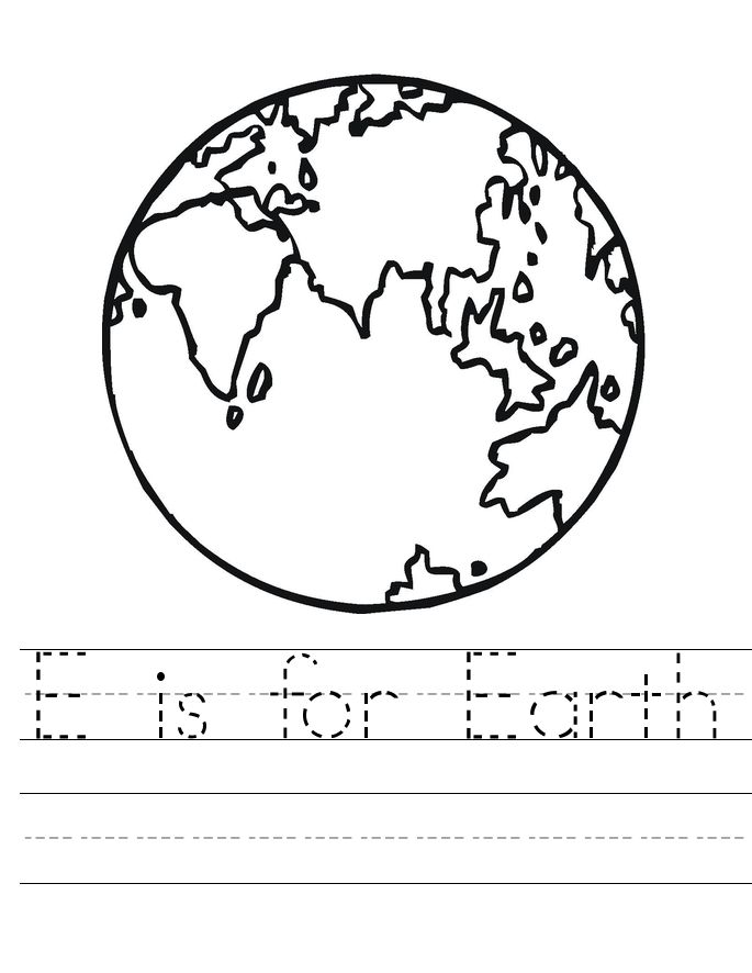 already colored Earth Day Worksheets - Best Coloring Pages For Kids preschool