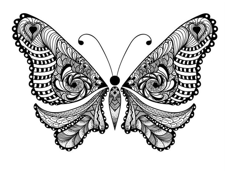 for teens Butterfly Coloring Pages for Adults - Best Coloring Pages Fo... for boys