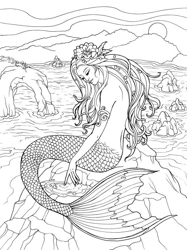 online Mermaid Coloring Pages for Adults - Best Coloring Pages For ... to print out