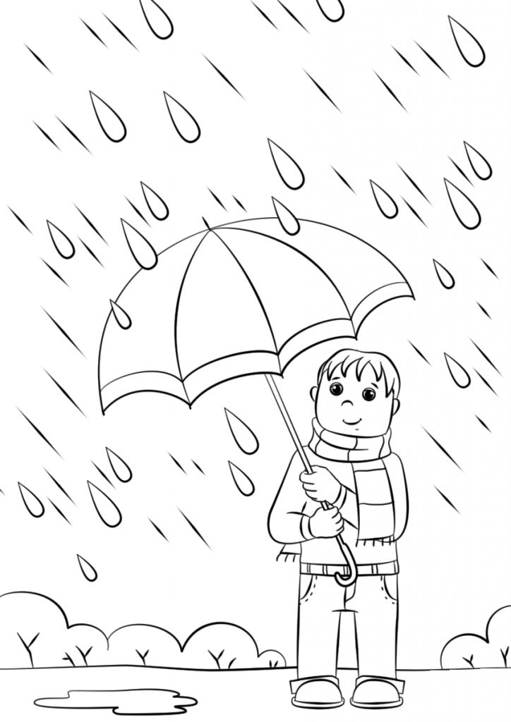 preschool Rain Coloring Pages - Best Coloring Pages For Kids easy