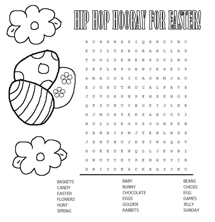 free printable Easter Word Search Puzzles - Best Coloring Pages For Kids for teens