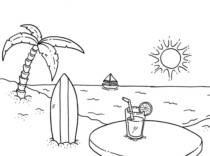 for toddlers Beach Coloring Pages - Beach Scenes & Activities toddler