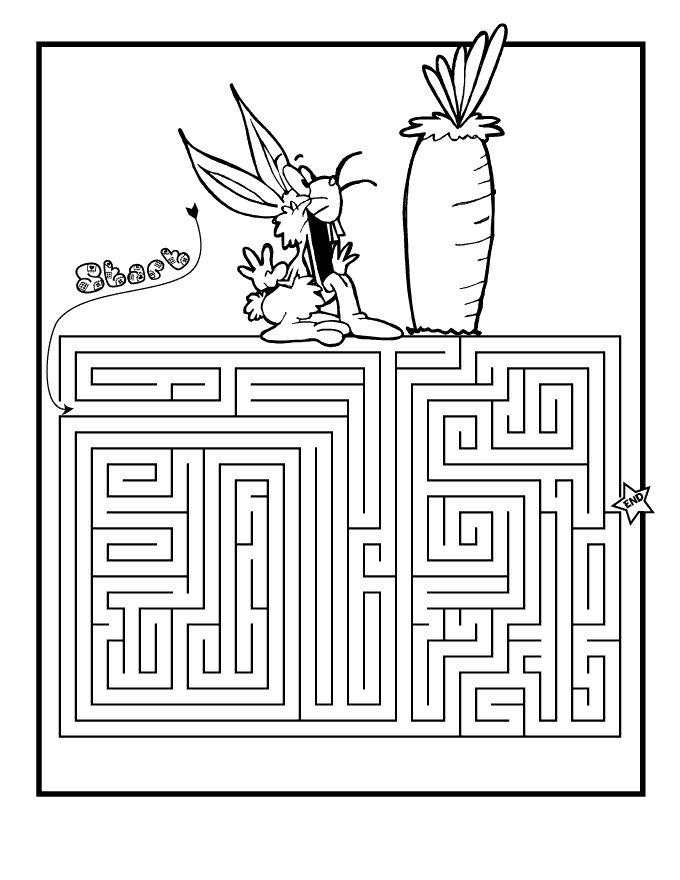 for kindergarten Easter Mazes - Best Coloring Pages For Kids free printable