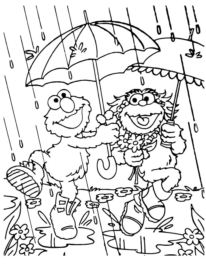 already colored Rain Coloring Pages - Best Coloring Pages For Kids to print out