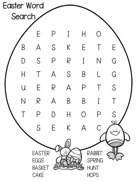 for boys Easter Word Search Puzzles - Best Coloring Pages For Kids online
