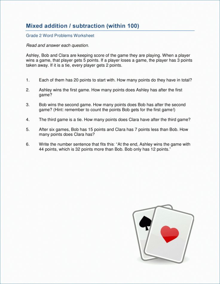 toddler 2nd Grade Math Word Problems - Best Coloring Pages For Kids pdf