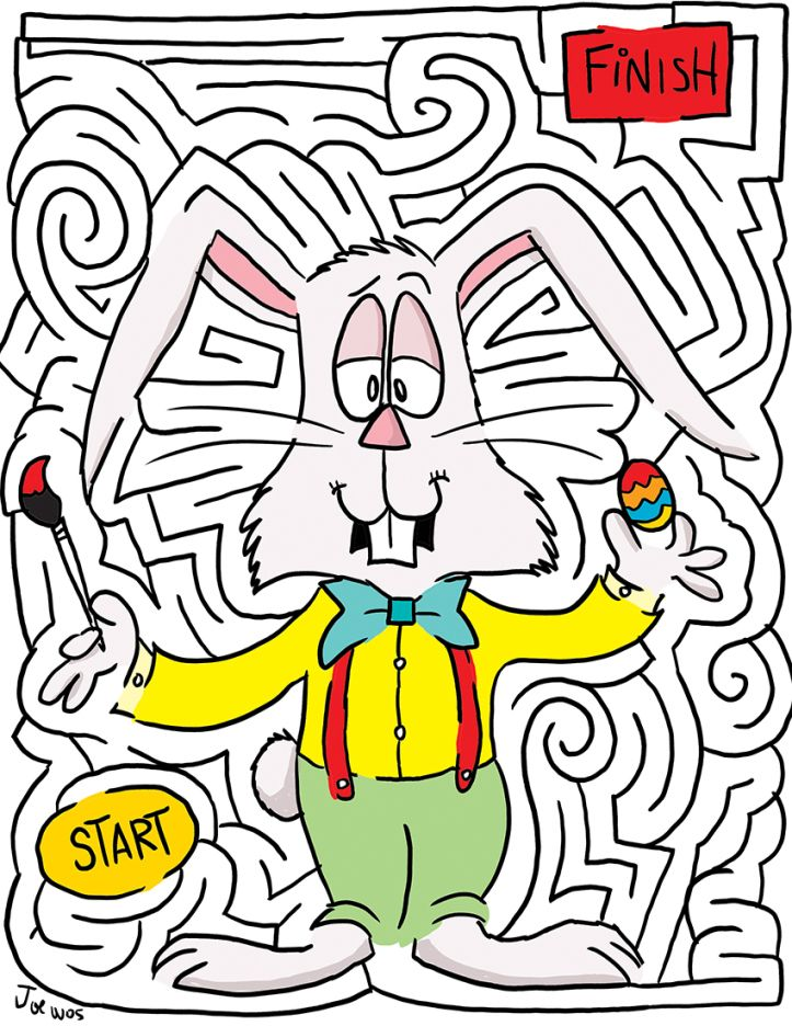 free printable Easter Mazes - Best Coloring Pages For Kids to print out