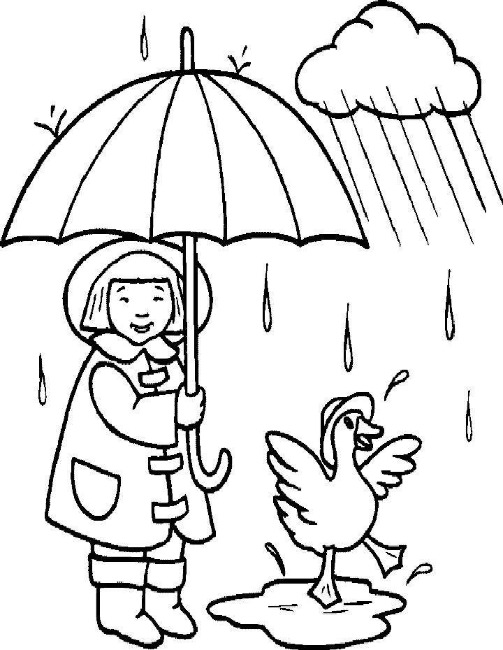 for kids Rain Coloring Pages - Best Coloring Pages For Kids for toddlers