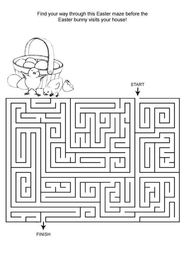 for sunday school Easter Mazes - Best Coloring Pages For Kids free