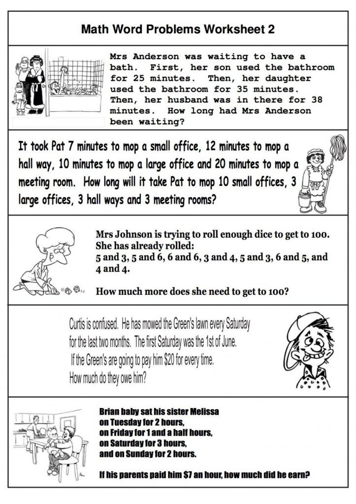 simple 2nd Grade Math Word Problems - Best Coloring Pages For Kids free printable