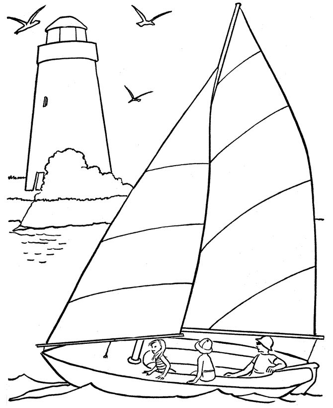 easy Beach Coloring Pages - Beach Scenes & Activities free printable